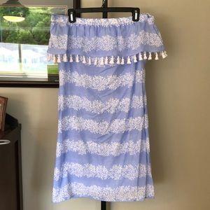 Sail to Sable Hydrangea Stripe Dress